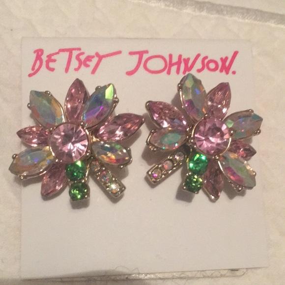 Betsey Johnson Sparkly Earrings